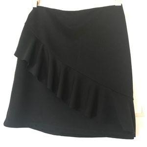 NWT Zara x Trafaluc Black Ruffled Mini Skirt Sz S